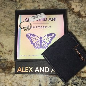 Brand new Alex and Ani butterfly ring - Sterling S